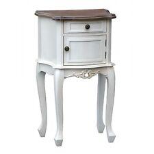 Appleby White 1 Drawer and Door Wooden Vintage Bedside Cabinet Side Table