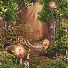 KinderTapete, Designtapete, Wald, Magisch, Reh, Elfen, verträumt, multicolor