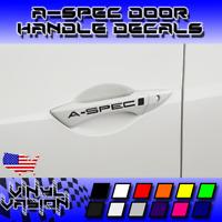 4x A-SPEC Door Handle Decal Sticker TSX TL TLX RL MDX RDX Acura