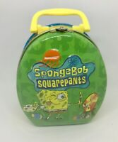 Easter Nickelodeon SpongeBob SquarePants Mini Candy Tin Box Hinged Handle 2003