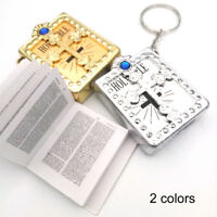 1Pc*Mini Holy Bible Miniature Paper Spiritual Christian Jesus Keychain Keyring