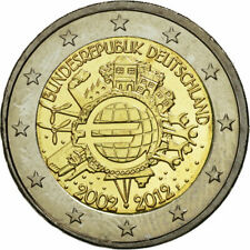 Allemagne -  2 Euro, 10 years euro, 2012. tous les ateliers