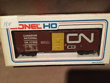 1970's Lionel HO Scale Train Car Canadian Canada CN Red Box Car
