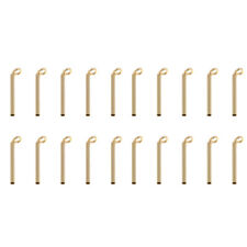 20pcs Fishing Rod Guides Kit Rod Tips Parts for Building Repair 0.9mm 1.0mm