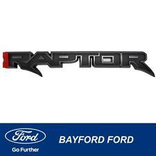Genuine Raptor Rear Logo Emblem Raptor 3d Black Fits Ford Ranger 2019 2020