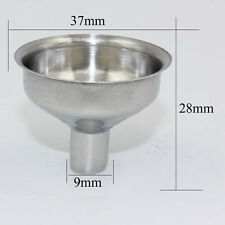 Portable 9mm Funnel Mini Stainless Steel Funnel for Essential Oil Bottles/Flasks