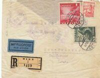 Österreich: 1938: Einschreiben - Flugpost Wien nach USA