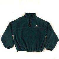 Vintage 80's JanSport Mens Sz M Polartec Pullover Fleece Sweater Green