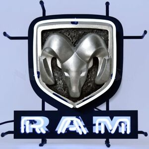 """Dodge Ram Wall Mount Junior Colorful Neon Sign w Backing Neonetics 17"""" 5SMLRM"""