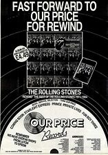 7/7/84pg12 Album Advert 15x10 The Rolling Stones, Rewind (the Best Of The Rollin