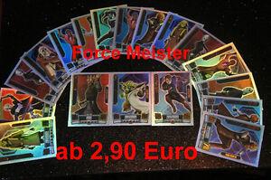Star Wars Force Attax Serie 2  aussuchen aus allen Force Meister + komplett Set