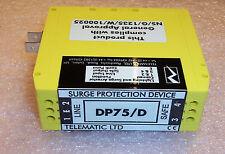 DP75/D TELEMATIC LTD DIN RAIL LIGHTNING & SURGE ARRESTOR 64V 600KHz YELLOW