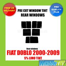 FIAT DOBLO 2000-2009 5% LIMO REAR PRE CUT WINDOW TINT