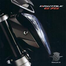 2013 MV Agusta Brutale 675cc 3 cylinder, 6 page foldout brochure on heavy paper