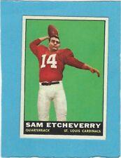 1961 Topps Football Card # 115 Cardinals Sam Etcheverry RC VGEx+