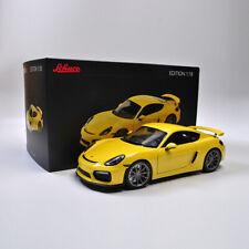 Schüco 1:18 Scale Porsche Cayman GT4 Diecast Car Model Collection With Case