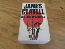 James Clavell 3 Books with Slipcase (Paperback 1980) Free Domestic Shipping