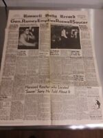 Roswell NM Daily Record July 9, 1947 Front Page Reprint Poster Aged Great Shape