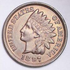 1897 Indian Head Small Cent CHOICE BU FREE SHIPPING E147 GMT