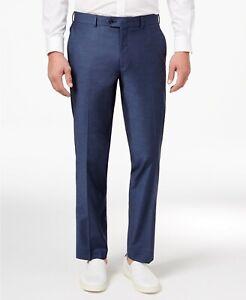 $85 Bar III Men's Blue Slim Fit Stretch Wrinkle Resistant Dress Pants 32  x 30