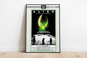 Poster ALIEN - Vintage Motiv: VHS betamax Erstauflage - DinA1 - CBS FOX