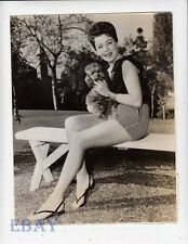 Lana Turner w/her dog VINTAGE Photo The Prodigal candid on sdet