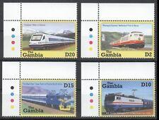 Gambia 2001 MNH 4v, Colour Guide, Train, Railways