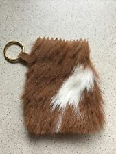 Small Leather Fur Money Pouch