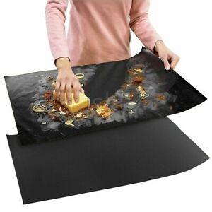 2x Teflon OVEN LINER Protector Sheet Mat Non Stick Heavy Duty Reusable Cooker UK