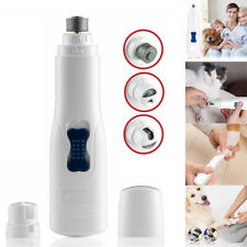 Electric Pet Nail Grinder Claw Grooming Trimmer Dog Cat Paws Clipper Tools Kits