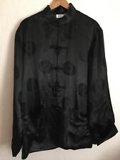Vintage Black With Lucky words Men's Chinese Style Coat /jacket XL Brand New