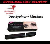 Huda Beauty long lasting black Liquid Duo mascara & Eye liner- new