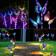 3 Solar Garden Stake Butterfly Light Outdoor Landscape Lamp Yard LED Lights US