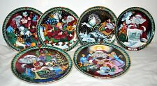 Bing & Grondahl Santa Claus Collection 6 Plates-Years 1989-1994 1st Plate Signed