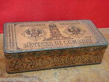Jolie ancienne boîte en tôle, Confiserie Despinoy, Bêtises de Cambrai