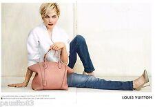 PUBLICITE ADVERTISING 0105  2014  les sacs LOUIS VUITTON  ( 2 pages)