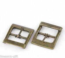 "HX 10 Bronze Tone Shoes Buckles Accessory 33x27mm(1 2/8""x1 1/8""),Inside"