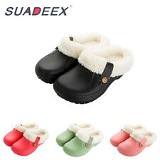 Womens Winter Warm Clogs Slippers Waterproof Indoor Outdoor Plush House Shoes US