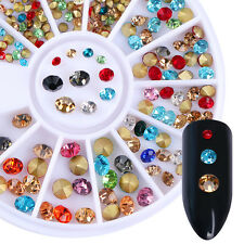 3D Nagel Sticker Strass Stud Mixed Size Color Nail Sticker Decoration in Wheel