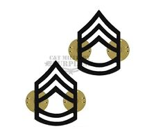 US Army E-7 Sergeant 1st Class Black Pin On Rank SGT 1C Certified - Made In USA