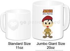 Personalised Army Female Soldier Camouflage Cadet Jumbo Gift Mug 20oz (Design 3)