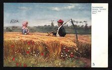 Posted 1904 Art Card - Illustrated Songs 'Comin' Thro' The Rye'