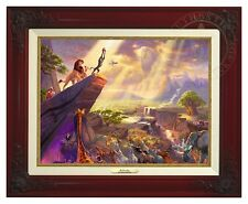Thomas Kinkade -Disney's Lion King– Canvas Classic (Brandy Frame)