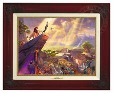 Thomas Kinkade Lion King Canvas Classic (Brandy Frame) Disney