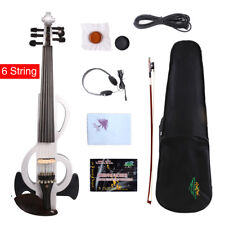 6string 4/4 Electric Violin Natural Solid wood handmade Free Case&Bow Cable#EV17