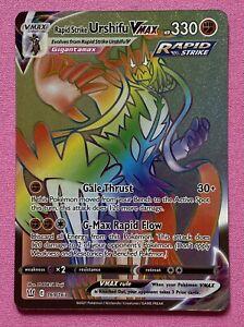 Rapid Strike Urshifu VMAX 169/163 Rainbow Secret Rare - Pokémon Battle Styles