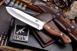 CFK IPAK Handmade D2 Custom DEER ANTLER Engraved Rosewood Hunting Camping Knife