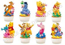 30 WINNIE THE POOH STAND UP Edible Cupcake Fairy Cake Topper Edible Decoration