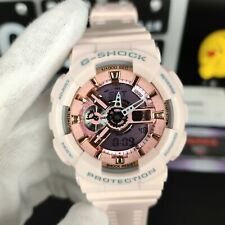 New G-Shock Women's Watch Gold and Pink Dial Pink Resin Quartz Gmas110Mp-4A1