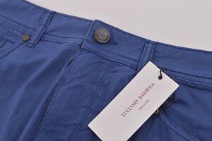 Luciano Barbera NWT 5 Pocket Casual Pants Sz 48 32 US Royal Blue Cotton Blend